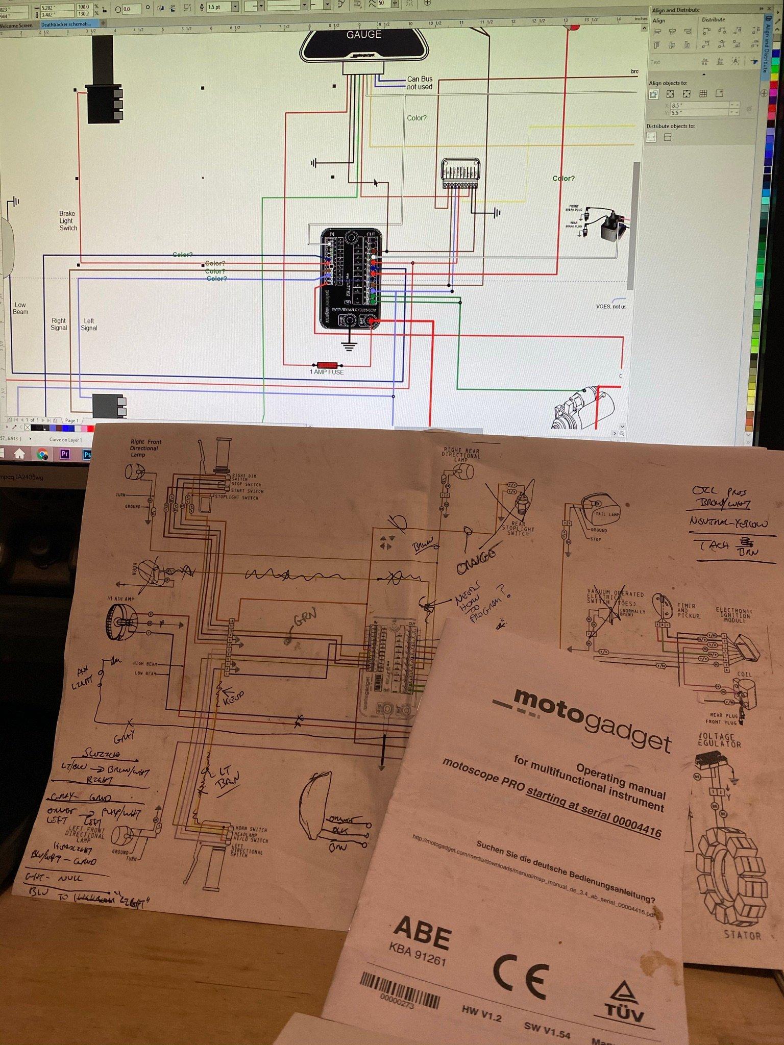 Deathtracker MotoGadget wiring diagram.