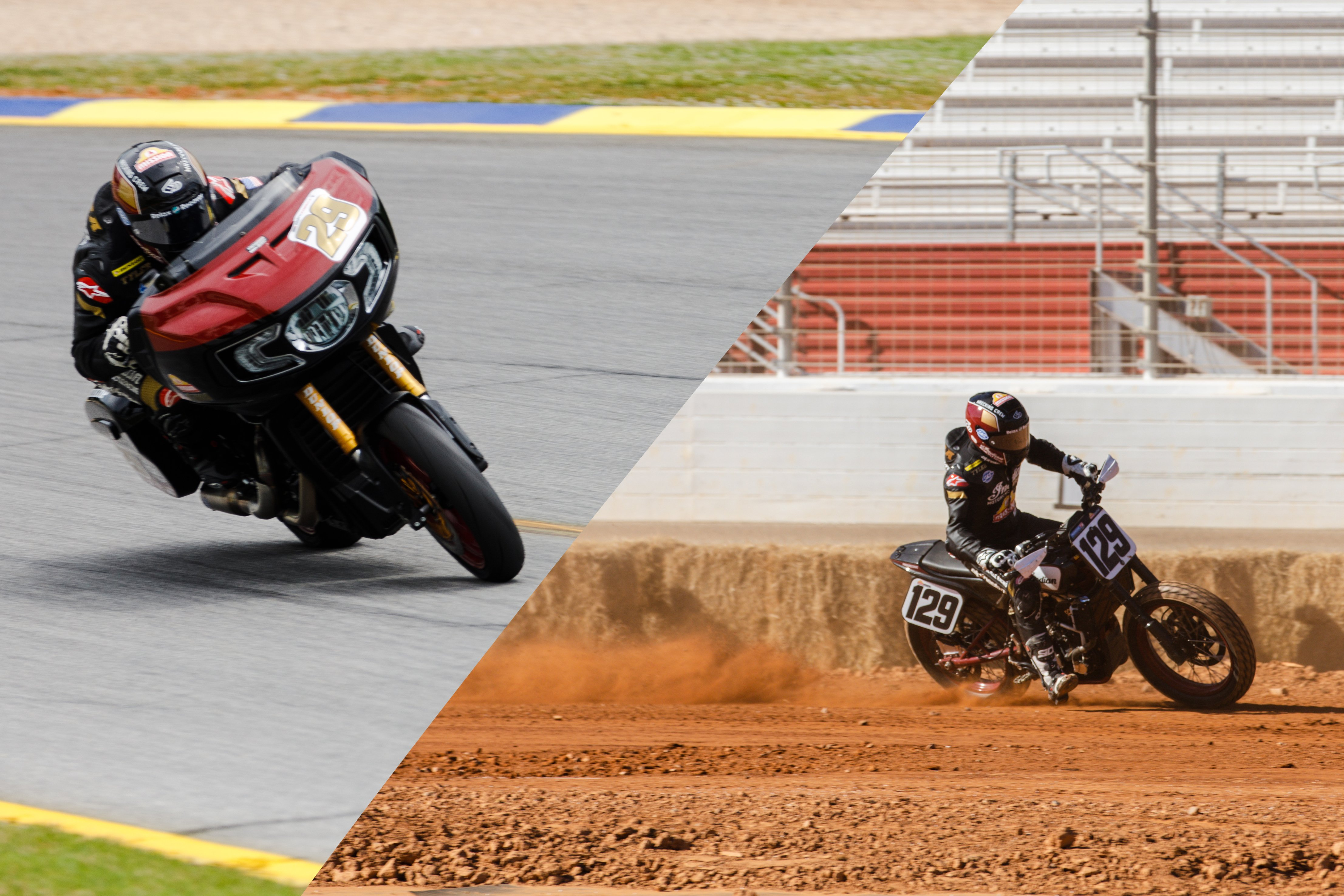 S&S and Indian Rider Tyler O'Hara Races American Flat Track & King of the Baggers on the Same Weekend!